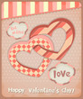 Retro Postcard to the Valentine's Day