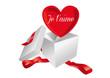 Coeur Saint Valentin Je t'aime
