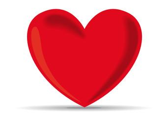 Coeur rouge Vecteur