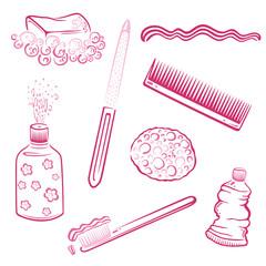 Bad, Hygiene, Badezimmer, Zahnpflege, pink