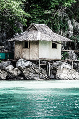 Fishing village in Coron the Philippines