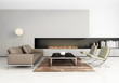 Grey Contemporary Gas Fireplac...