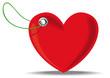 Etiquette coeur Saint Valentin
