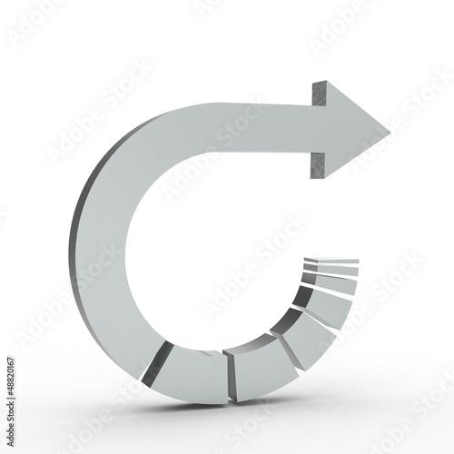 3d Icon Pfeil siler