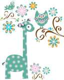 owl and giraffe