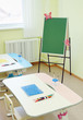 In a room for drawing lessons in the kindergarten