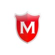 Secure shield letter M.