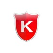 Secure shield letter K.