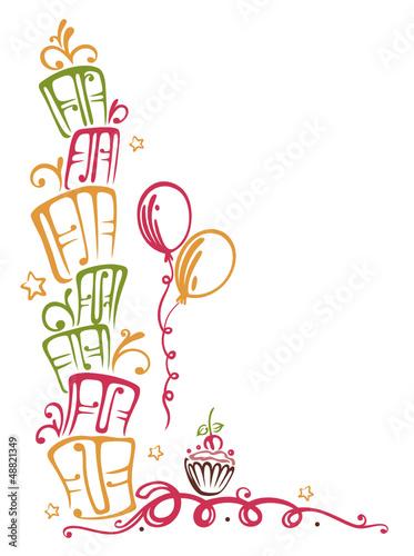 Geburtstag, Geschenke, birthday, Ranke