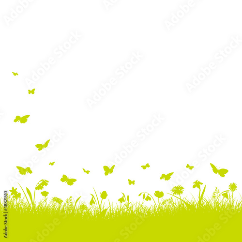 Meadow Background Flowers Green