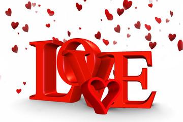 Symbole de l'amour pour fêter le St Valentin