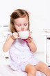 Child having tea
