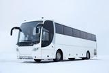 Fototapety White Bus in Winter