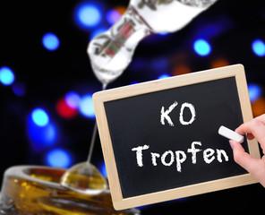 K.o.-Tropfen Tafel Symbol