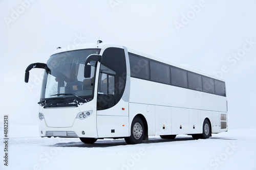 White Bus in Winter