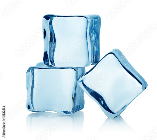 Three ice cubes