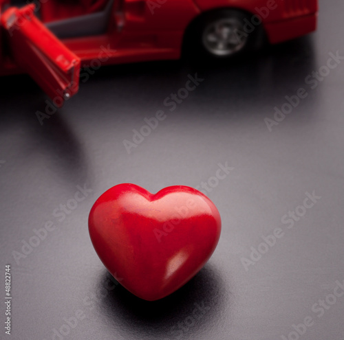 A conceptual image relating to the phrase, I love my car