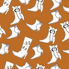 Seamless pattern with boots