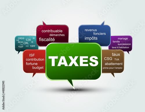 mots bulles taxes