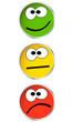 Ampel Buttons mit Gesicht