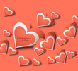 Love card Valentines day hearts colorful background