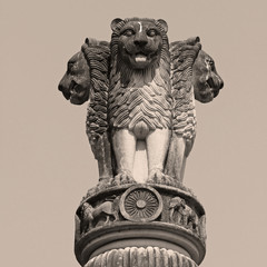 sculpture of emblem of India