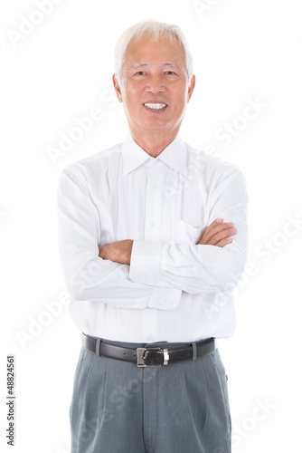 Senior adult Asian Chinese businessman