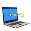 Laptop Golden Key