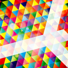 Abstract mosaic geometric background with sample for text.