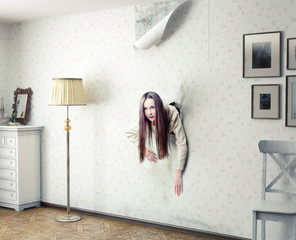 woman and the wall