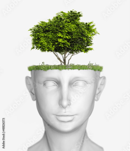 head with tree