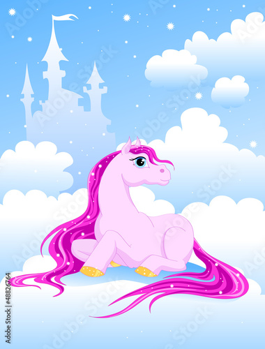 Poster Pony magic pink pony