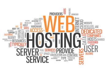 """Word Cloud """"Web Hosting"""""""