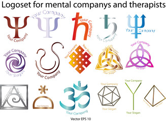 Logoset for mental companys and therapists