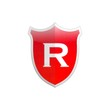 Secure shield letter R.