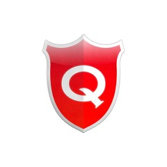 Secure shield letter Q.