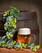 canvas print picture - still life with beer