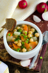 Soup of chickpea