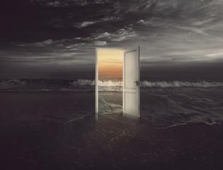 Beach door