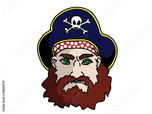 Face of a Pirate Vector