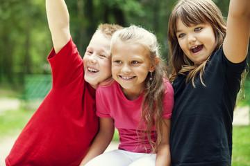 Portrait of happy kids