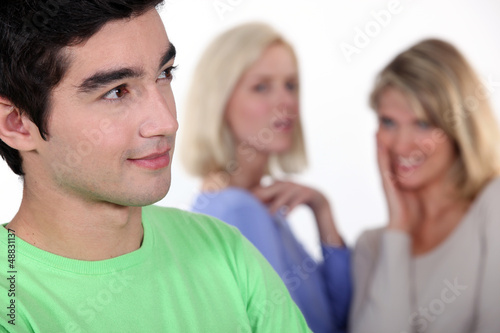 Girls talk about boy