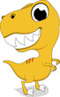 Vector Illustration Of Cute Yellow Rex