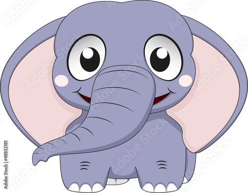 Vector Illustration Of Cute Elephant