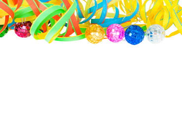 Colorful party deco isolated over white