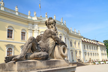 Ludwigsburg palace in Ludwigsburg, Baden-Wurttemberg, Germany