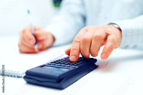 Image of businessman working