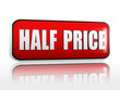 half price in red banner