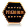 premium five star hexagon button