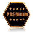 premium five star hexagon button